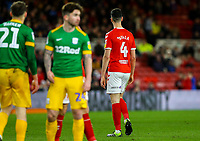Middlesbrough's Daniel Ayala leaves the field after being shown a red card<br /> <br /> Photographer Alex Dodd/CameraSport<br /> <br /> The EFL Sky Bet Championship - Middlesbrough v Preston North End - Wednesday 13th March 2019 - Riverside Stadium - Middlesbrough<br /> <br /> World Copyright &copy; 2019 CameraSport. All rights reserved. 43 Linden Ave. Countesthorpe. Leicester. England. LE8 5PG - Tel: +44 (0) 116 277 4147 - admin@camerasport.com - www.camerasport.com