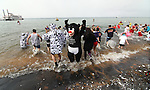 More than 500 people participated in the Freezin' for a Reason Polar Plunge, a fundraiser for Special Olympics  at Zephyr Cove on Saturday, March 19, 2011. The water temperature at the time was approximately 40 and the air temperature was 31..Photo by Cathleen Allison