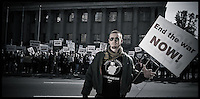 "Garett Reppenhagen was one of the first outspoken critics of the Iraq War while still serving in Iraq as a calvary sniper.  He was a co-founder of the blog ""fight to survive"" and was photographed at an antiwar rally in Denver.  This is from a portrait series I am doing on Iraq War veterans who are resisting the war."