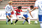 (L to R) <br /> Shiho Ogawa (Iga FC Kunoichi), <br /> Chika Kato (Reds Ladies), <br /> Maiko Nasu (Iga FC Kunoichi), <br /> MAY 7, 2016 - Football / Soccer : <br /> Plenus Nadeshiko League 2016 <br /> between Urawa Reds Ladies 1-0 Iga FC Kunoichi <br /> at Saitama Urawa Komaba Stadium in Saitama, Japan. <br /> (Photo by AFLO SPORT)