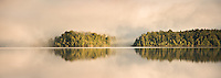 Lake Mapourika sunrise, Westland Tai Poutini National Park, West Coast, UNESCO World Heritage Area, New Zealand, NZ