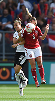 20170803 - BREDA , NETHERLANDS : Danish Theresa Nielsen (R) and Austrian Nicole Billa (L) pictured during the female soccer game between Denmark and Austria  , the semi final at the Women's Euro 2017 , European Championship in The Netherlands 2017 , Thursday 3th of August 2017 at Stadion Rat Verlegh in Breda , The Netherlands PHOTO SPORTPIX.BE | DIRK VUYLSTEKE