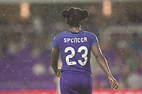Orlando, FL - Saturday June 03, 2017: Jasmyne Spencer during a regular season National Women's Soccer League (NWSL) match between the Orlando Pride and the Boston Breakers at Orlando City Stadium.