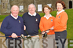 DRIVE : The Capts and Preidents of the Ballyheigue Golf Club held their drive on Sunday at Ballyheigue Golf Club on Sunday. L-r: Ber Heir and Tina Colgan and John Pierce (capt) and Sheila McCarthy (lady capt).....