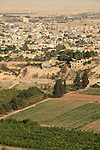 A view of Jericho from the Greek Orthodox Quarantal Monastery on the Mount of Temptation