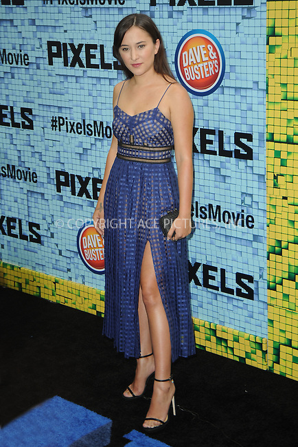 WWW.ACEPIXS.COM<br /> July 18, 2015 New York City<br /> <br /> Zelda Rae Williams attending the 'Pixels' Premiere at Regal E-Walk on July 18, 2015 in New York City.<br /> <br /> Please byline: Kristin Callahan/ACE <br /> <br /> <br /> Tel: (646) 769 0430<br /> e-mail: info@acepixs.com<br /> web: http://www.acepixs.com
