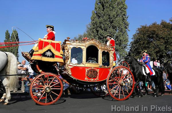 Leiden - Leidens Ontzet .  Grote Optocht. De 3 October Vereeniging. Gouden Koets