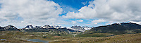 Mountain landscape of Jotunheimen national park, Norway