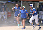 Western Nevada Wildcats celebrate a win at Edmonds Sports Complex Carson City, Nev., on Saturday, May 2, 2015.<br /> Photo by Cathleen Allison