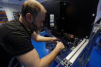 Pictured: A worker assembles a machine at Some of the work done by Spectrum Technologies in Bridgend, Wales, UK. Wednesday 19 February 2020<br /> Re: The effect of the Ford factory closure will have to Bridgend in south Wales, UK.