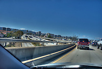 Eastbound l-10 Interchange to l-405 North, Traffic, Los Angeles, CA