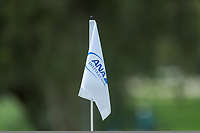 The pin flag on the 7th hole during Round 3 at the ANA Inspiration, Mission Hills Country Club, Rancho Mirage, Calafornia, USA. {03/31/2018}.<br />