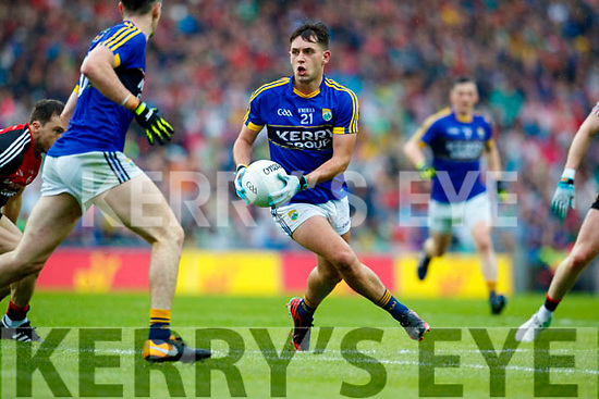 Jack Savage Kerry in action against  Mayo in the All Ireland Semi Final in Croke Park on Sunday.
