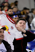 Harrison, NJ - Thursday March 01, 2018: New York Red Bulls fans. The New York Red Bulls defeated C.D. Olimpia 2-0 (3-1 on aggregate) during a 2018 CONCACAF Champions League Round of 16 match at Red Bull Arena.