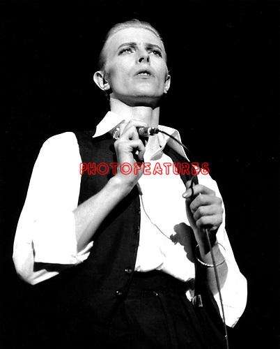 David Bowie 1976 at Wembley<br />&copy; Chris Walter