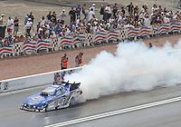 Apr. 7, 2013; Las Vegas, NV, USA: NHRA funny car driver Robert Hight during the Summitracing.com Nationals at the Strip at Las Vegas Motor Speedway. Mandatory Credit: Mark J. Rebilas-