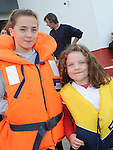 Laura O'Callaghan and Katie Leddy pictured at the Boyne Fishermans Rescue and Recovery Service open day. Photo: Colin Bell/pressphotos.ie