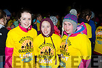 Rachel McGillicuddy, Rachel Fleming and Michelle O'Sullivan at Nathans Darkness into Light walk at Killarney Racecourse Saturday morning