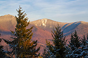 Franconia Notch State Park - Franconia Ridge from the summit of Mount Pemigewasset in Lincoln, New Hampshire during the winter months. Mount Flume is straight ahead, and Mount Liberty is on the right.