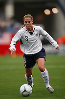 USA defender (3) Christie Rampone. The USA Women's National Team defeated Mexico 5-0 in an international friendly at Gillette Stadium, Foxbourgh, MA, on April 14, 2007.