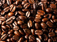 Columbian Fair Trade Coffee  beans stock photos