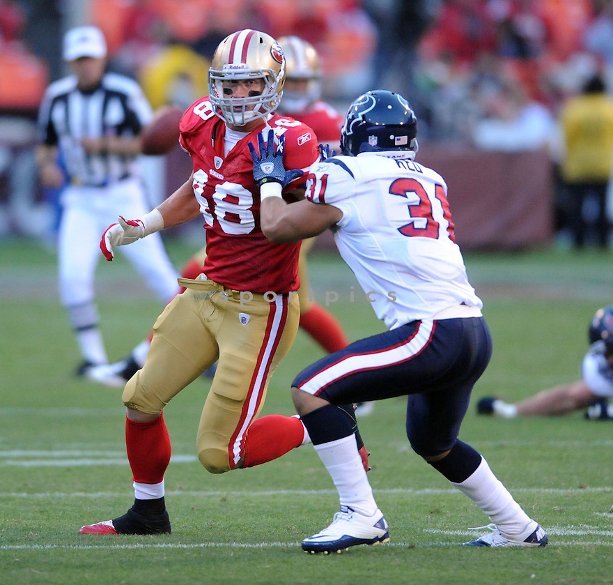 KONRAD REULAND, of the San Francisco 49ers, in actions during the 49ers game against the Houston Texans on August 27, 2011 at Candlestick Park in San Francisco, California. Houston beat San Francisco 30-7.
