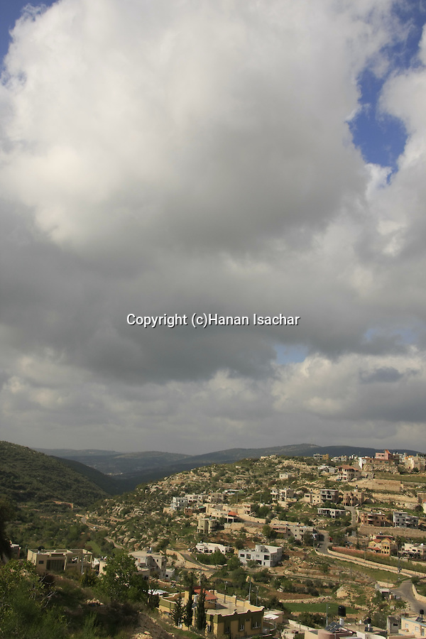 Israel, Upper Galilee. Druze village Beth Jan on Mount Meron.