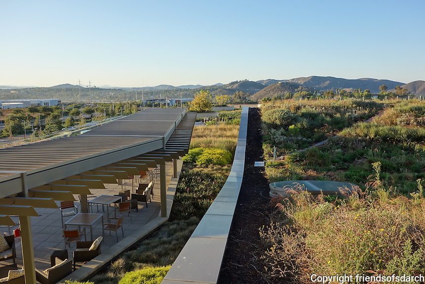 """Palomar Pomerado Health, Escondido, CA, 2005-2012. Primary goal was to create a """"healing environment"""" embracing two equally important components--a humane place of recuperation for patients and a model of sustainability in larger environmental context. Yu-Ju-Liu, landscape architect. Photo by DPR Construction."""