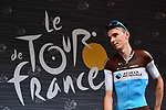 Romain Bardet (FRA) AG2R La Mondiale at sign on before the start of Stage 13 of the 2018 Tour de France running 169.5km from Bourg d'Oisans to Valence, France. 20th July 2018. <br /> Picture: ASO/Alex Broadway | Cyclefile<br /> All photos usage must carry mandatory copyright credit (© Cyclefile | ASO/Alex Broadway)