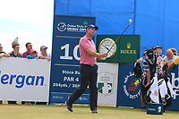 Padraig Harrington (IRL) on the 10th tee during Round 2 of the Dubai Duty Free Irish Open at Ballyliffin Golf Club, Donegal on Friday 6th July 2018.<br /> Picture:  Thos Caffrey / Golffile