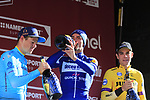 Julian Alaphilippe (FRA) Deceuninck-Quick Step wins Strade Bianche 2019 with Jakob Fuglsang (DEN) Astana Pro Team 2nd place and Wout Van Aert (BEL) Team Jumbo-Visma in 3rd place, running 184km from Siena to Siena, held over the white gravel roads of Tuscany, Italy. 9th March 2019.<br /> Picture: Eoin Clarke | Cyclefile<br /> <br /> <br /> All photos usage must carry mandatory copyright credit (© Cyclefile | Eoin Clarke)