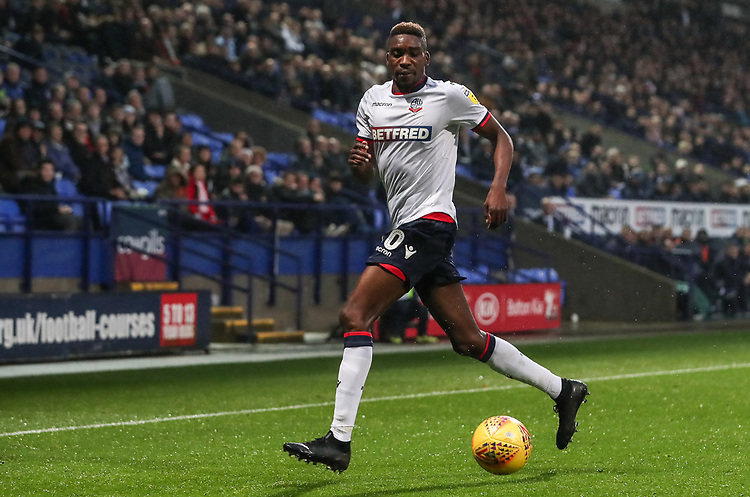 Bolton Wanderers' Sammy Ameobi<br /> <br /> Photographer Andrew Kearns/CameraSport<br /> <br /> The EFL Sky Bet Championship - Bolton Wanderers v Wigan Athletic - Saturday 1st December 2018 - University of Bolton Stadium - Bolton<br /> <br /> World Copyright © 2018 CameraSport. All rights reserved. 43 Linden Ave. Countesthorpe. Leicester. England. LE8 5PG - Tel: +44 (0) 116 277 4147 - admin@camerasport.com - www.camerasport.com