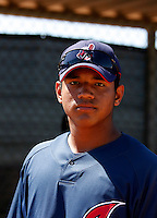Alex Monsalve -  Cleveland Indians - 2009 extended spring training.Photo by:  Bill Mitchell/Four Seam Images