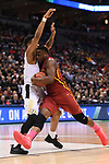 MILWAUKEE, WI - MARCH 18: Iowa State Cyclones guard Deonte Burton (30) drives into a Purdue Boilermaker defender during the second half of the 2017 NCAA Men's Basketball Tournament held at BMO Harris Bradley Center on March 18, 2017 in Milwaukee, Wisconsin. (Photo by Jamie Schwaberow/NCAA Photos via Getty Images)