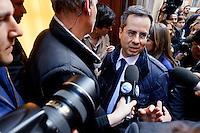 Roma  23 Aprile 2013.Si riunusce  la direzione nazionale del Partito Democratico. Matteo Colaninno
