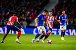 Yuri Berchiche of Athletic de Bilbao (L) fights for the ball with Angel Correa of Atletico de Madrid (R) during the La Liga 2018-19 match between Atletico de Madrid and Athletic de Bilbao at Wanda Metropolitano, on November 10 2018 in Madrid, Spain. Photo by Diego Gouto / Power Sport Images