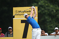 Danny Willett (ENG) shoots a 32 on the front nine in chase of Lee Westwood (ENG) during the Final Round of the 2014 Maybank Malaysian Open at the Kuala Lumpur Golf & Country Club, Kuala Lumpur, Malaysia. Picture:  David Lloyd / www.golffile.ie