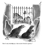 """""""But it's only what they say — that we don't breed in captivity."""""""
