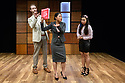 """CHINGLISH, by David Henry Hwang, opens at the Park Theatre. Directed by Andrew Keates, with lighting design by Christopher Nairne and set and costume design by Tim McQuillen-Wright. Picture shows: Duncan Harte (Peter Timms), Candy Ma (Xi Yan), Siu-see Hung (Qian)"