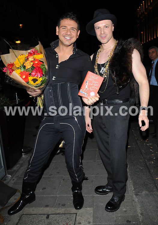 **ALL ROUND PICTURES FROM SOLARPIX.COM**.**WORLDWIDE SYNDICATION RIGHTS**.Celebrities have a night out at Embassy Club, London, UK. 16th October 2008..This pic: Gerry Stergiopoulos and Richard Newman, the Big Brother 7 contestants..JOB REF: 7623 SSD   DATE: 16_10_2008.**MUST CREDIT SOLARPIX.COM OR DOUBLE FEE WILL BE CHARGED* *UNDER NO CIRCUMSTANCES IS THIS IMAGE TO BE REPRODUCED FOR ANY ONLINE EDITION WITHOUT PRIOR PERMISSION*