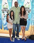 Kourtney Kardashian,Lamar Odom & Khloe Kardashian at Fox Teen Choice 2010 Awards held at he Universal Ampitheatre in Universal City, California on August 08,2010                                                                                      Copyright 2010 © DVS / RockinExposures