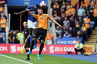 Wilfred Ndidi of Leicester City and Matt Doherty of Wolverhampton Wanderers during Leicester City vs Wolverhampton Wanderers, Premier League Football at the King Power Stadium on 11th August 2019