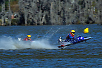 Frame 2: 1-US goes for a wild ride.   (outboard hydroplane)
