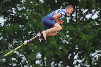 FIERLJEPPEN: BUITENPOST: 03-06-2016, Topklasse Fierljeppen, winnaar Nard Brandsma 19.96m, ©foto Martin de Jong