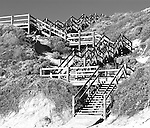 Dune Steps 02 - Timber steps on the sand dunes at Moses Rock Beach, Western Australia