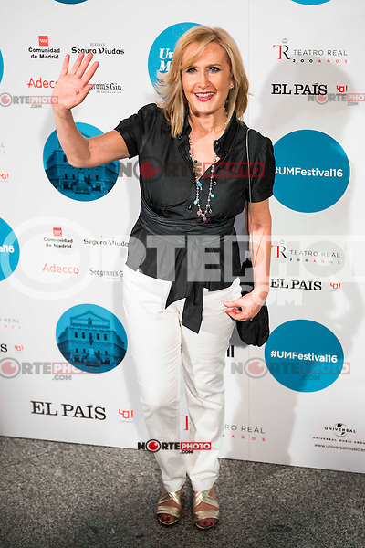 Nieves Herrero attends to the photocall of the Rod Stewart concert at Teatro Real in Madrid. July 05. 2016. (ALTERPHOTOS/Borja B.Hojas)