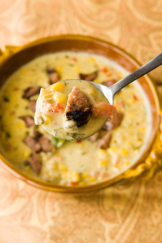 Creamy Poblano Soup is a featured dish at Molina's Cantina at 4702 Washington Ave. Tuesday, July 1, 2008, in Houston. ( Steve Campbell / Chronicle)