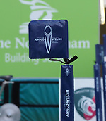 4th November 2017, Welford Road, Leicester, England; Anglo-Welsh Cup, Leicester Tigers versus Gloucester;  Anglo-Welsh branded corner and other pitch-side flags at the We;sord Road Stadium