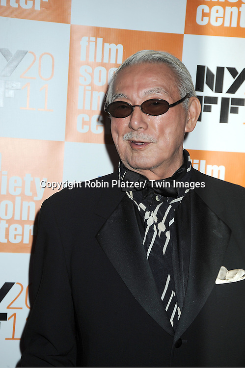 "actor Joe Shishido attends the 49th Annual New York Film Festival Opening Night Gala presentation of ""Carnage"" on September 30, 2011 at Alice Tully Hall in New York City."
