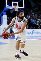 23 Sergio Llull Point guard of Real Madrid Baloncesto . 2014 November 30 Madrid Spain. ACB LIGA ENDESA 14/15, 9º Match, match played between Real Madrid Baloncesto vs CAI Zaragoza at Palacio de los deportes stadium.